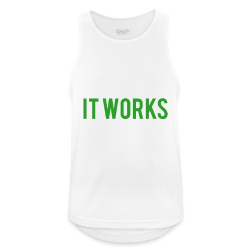 It works on my machine Funny Developer Design - Men's Breathable Tank Top