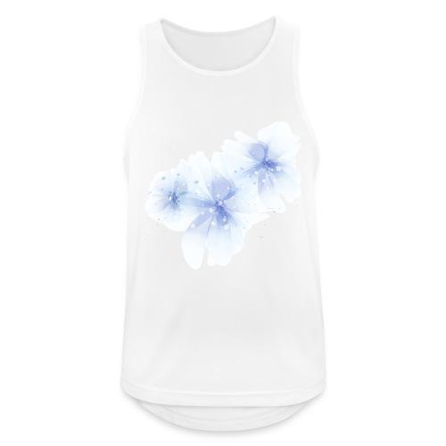 blue flowers - Tank top męski oddychający