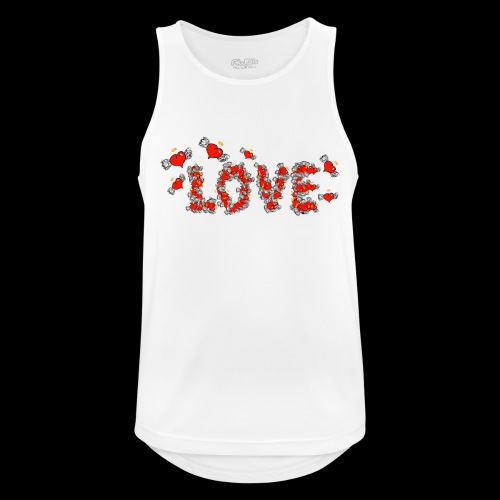 Flying Hearts LOVE - Men's Breathable Tank Top