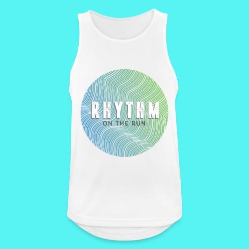 Rhythm On The Run Logo - Men's Breathable Tank Top
