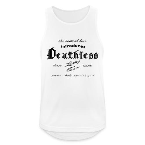 deathless living team schwarz - Männer Tank Top atmungsaktiv