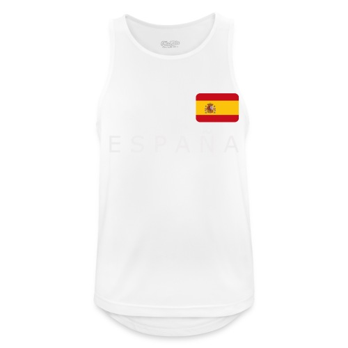 BCN ESPAÑA white-lettered 400 dpi - Men's Breathable Tank Top