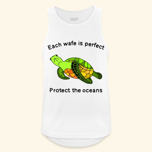 Each Wafe Is Perfect Protect The Ocean Sea Turtle - Männer Tank Top atmungsaktiv