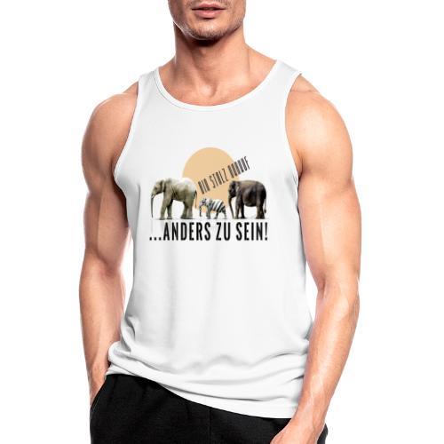 Stolz anders zu sein - Männer Tank Top atmungsaktiv