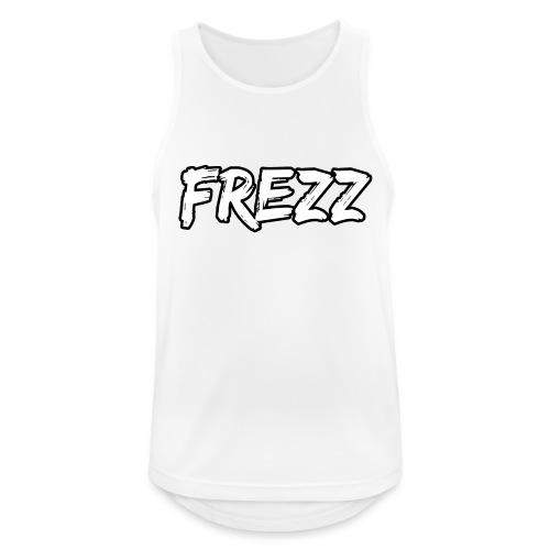 T Shirt FREZZ Noir&Blanc Classique (NOIR) - Débardeur respirant Homme