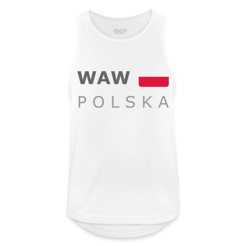 WAW POLSKA dark-lettered 400 dpi - Men's Breathable Tank Top