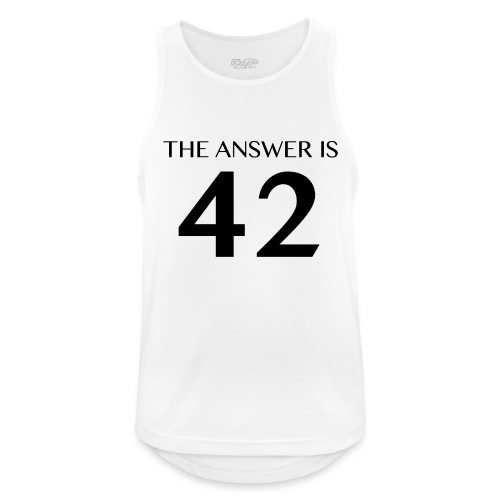 The Answer is 42 Black - Men's Breathable Tank Top