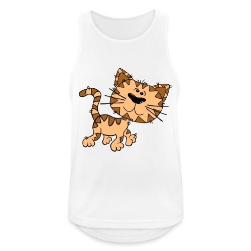Cat - Männer Tank Top atmungsaktiv