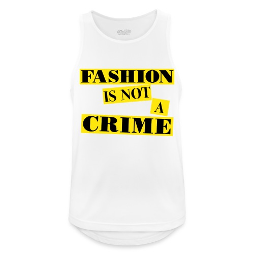 FASHION IS NOT A CRIME - Men's Breathable Tank Top