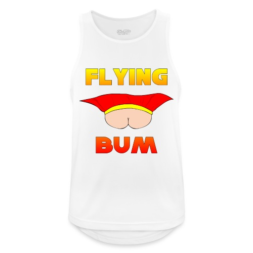 Flying Bum (face on) with text - Men's Breathable Tank Top