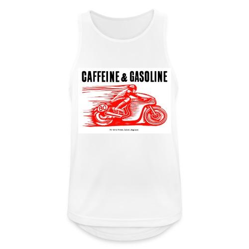 Caffeine & Gasoline black text - Men's Breathable Tank Top