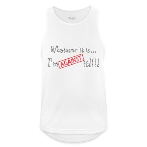 Against it - Men's Breathable Tank Top