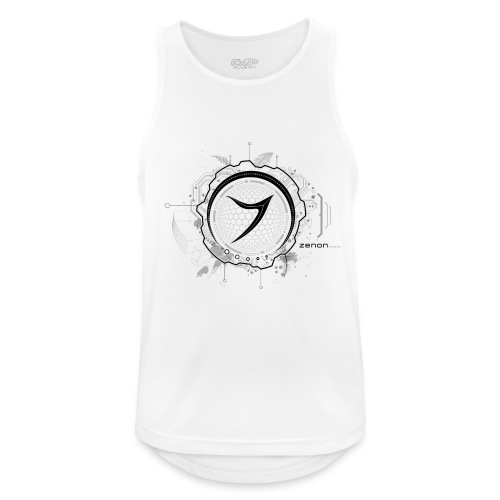 Zenon TECH (black) - Men's Breathable Tank Top