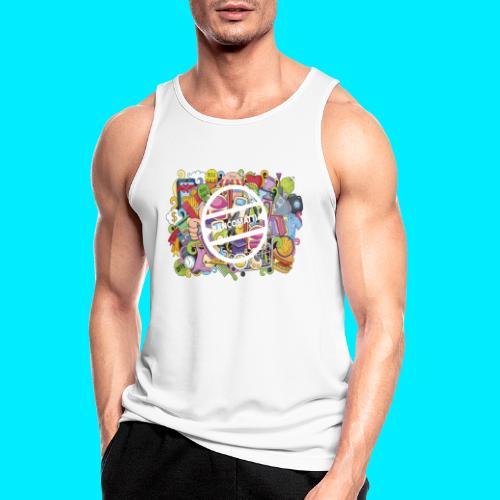 maglia logo doodle - Canotta da uomo traspirante