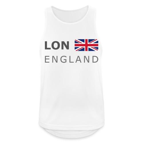 LON ENGLAND BF dark-lettered 400 dpi - Men's Breathable Tank Top