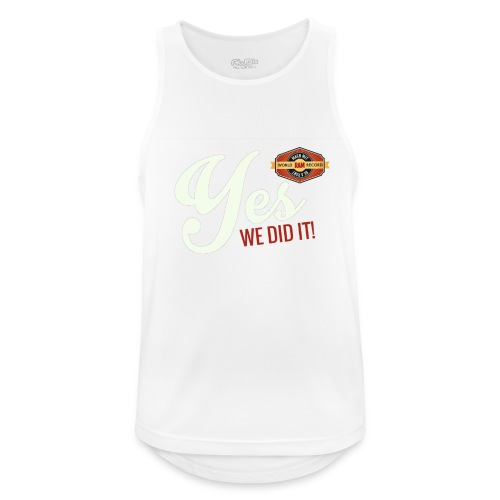 YES-we did it_white - Männer Tank Top atmungsaktiv