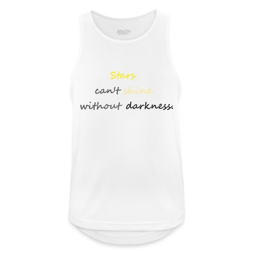 Stars can not shine without darkness - Men's Breathable Tank Top