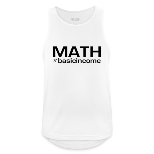 math-black - Mannen tanktop ademend