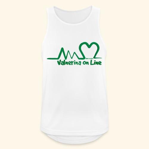 logo verde Associazione Valnerina On line - Canotta da uomo traspirante