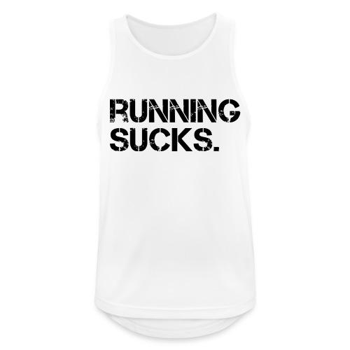 Running Sucks - Männer Tank Top atmungsaktiv