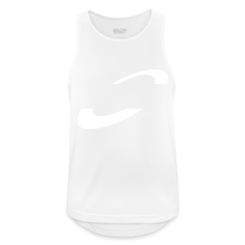 Planet Cycling Icon White - Men's Breathable Tank Top
