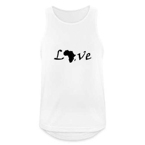 Love Africa - Männer Tank Top atmungsaktiv