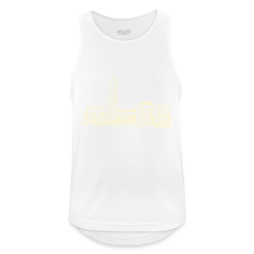 Helsinki railway station pattern trasparent beige - Men's Breathable Tank Top