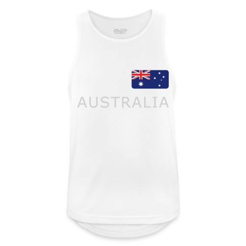 MEL AUSTRALIA white-lettered 400 dpi - Men's Breathable Tank Top