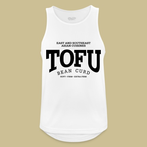 Tofu (black) - Männer Tank Top atmungsaktiv
