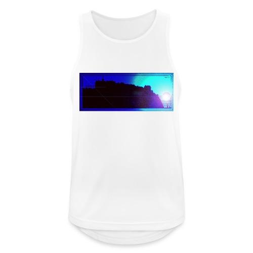 Silhouette of Edinburgh Castle - Men's Breathable Tank Top
