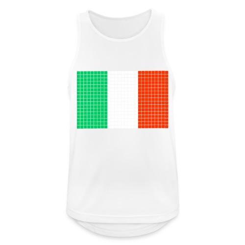 italian flag - Canotta da uomo traspirante