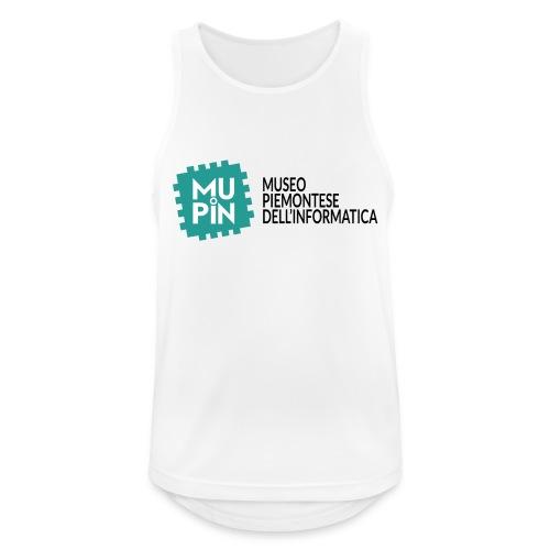 Logo Mupin con scritta - Canotta da uomo traspirante