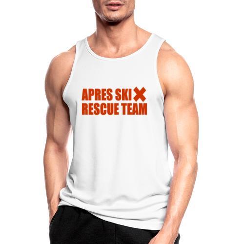 apres-ski rescue team - Mannen tanktop ademend actief
