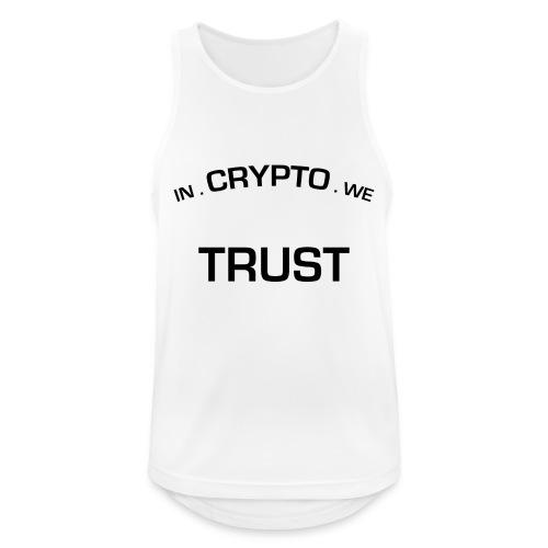 In Crypto we trust - Mannen tanktop ademend