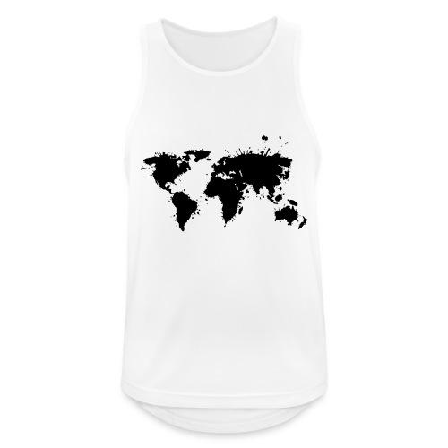 Weltkarte Splash - Männer Tank Top atmungsaktiv