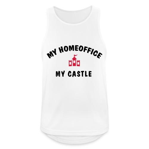 MY HOMEOFFICE MY CASTLE - Männer Tank Top atmungsaktiv