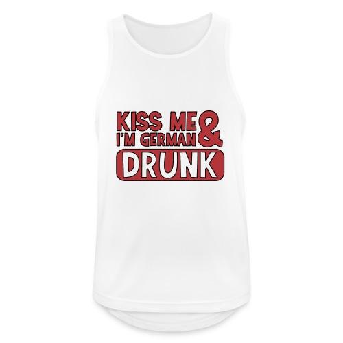 Kiss me I'm German & Drunk - Party Feiern Bier - Männer Tank Top atmungsaktiv