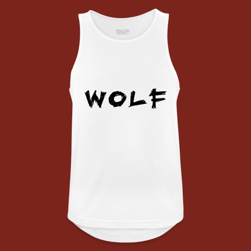Wolf Font png - Mannen tanktop ademend actief