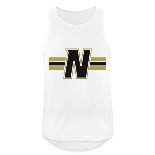 Nordic Steel Black N with stripes - Men's Breathable Tank Top