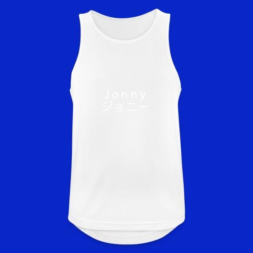 J o n n y (white on black) - Men's Breathable Tank Top