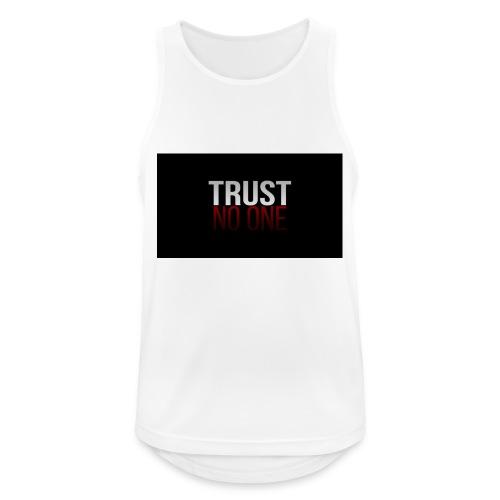 Trust, NO ONE! - Mannen tanktop ademend actief