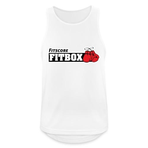 logo fitbox - Mannen tanktop ademend