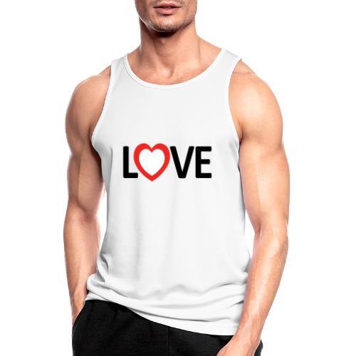Love - Camiseta sin mangas hombre transpirable