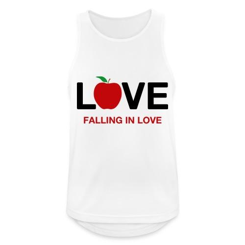 Falling in Love - Black - Men's Breathable Tank Top