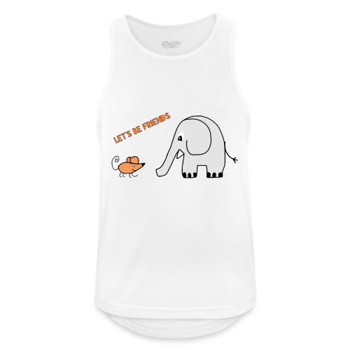 Elephant and mouse, friends - Men's Breathable Tank Top