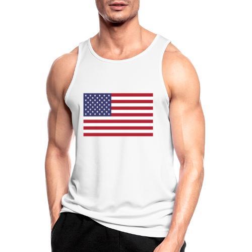USA flagg - Pustende singlet for menn
