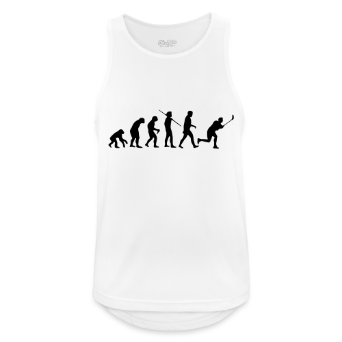 Floorball Evolution Black - Männer Tank Top atmungsaktiv