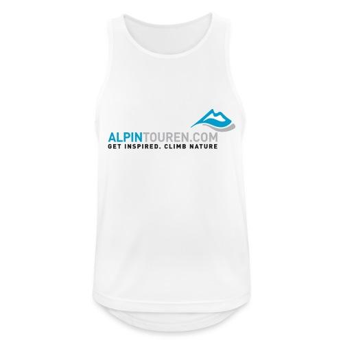 Alpintouren Logo - Männer Tank Top atmungsaktiv