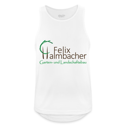 Halmbacher Logo - Männer Tank Top atmungsaktiv