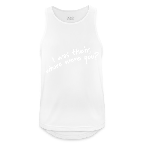 Dyslexic I was there - Mannen tanktop ademend